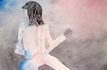 Jimmy Page Watercolor
